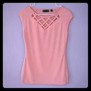 New York & Company Small Pink Blouse 7th Avenue